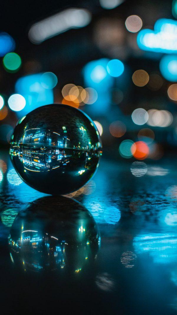 3D Ball Reflection Glare HD Wallpaper 1080x1920 600x1067 - 3D Ball Reflection Glare HD Wallpaper - 1080x1920