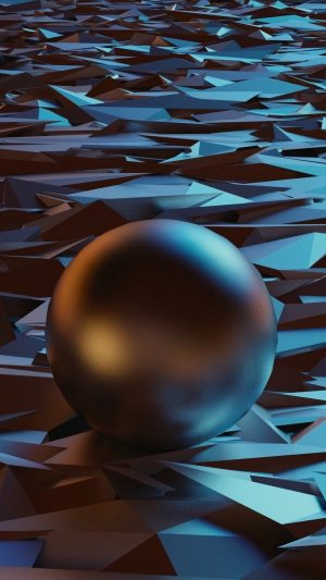 3D Ball Sphere Shape HD Wallpaper 1080x1920 300x533 - 3D Ball Shape Surface HD Wallpaper - 1080x1920
