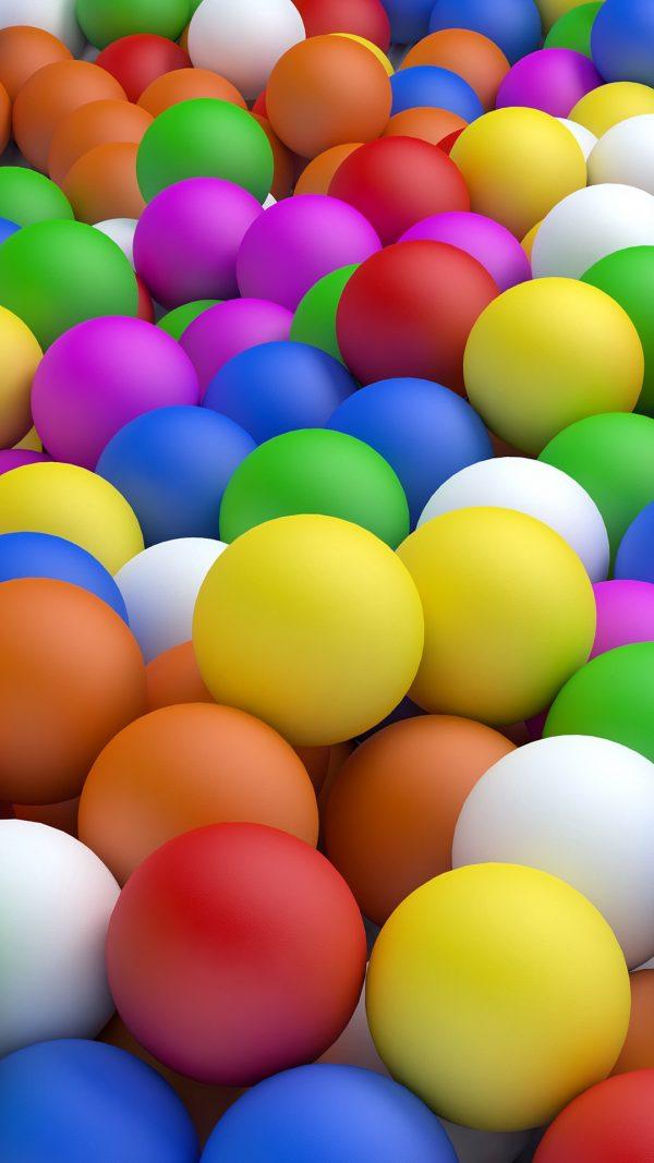 3D Balls Colorful Ball HD Wallpaper 1080x1920 600x1067 - 3D Balls Colorful Ball HD Wallpaper - 1080x1920