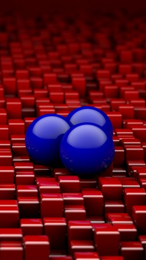 3D Balls Cubes Red HD Wallpaper 1080x1920 300x533 - 3D Balls Cubes Shapes HD Wallpaper - 1080x1920