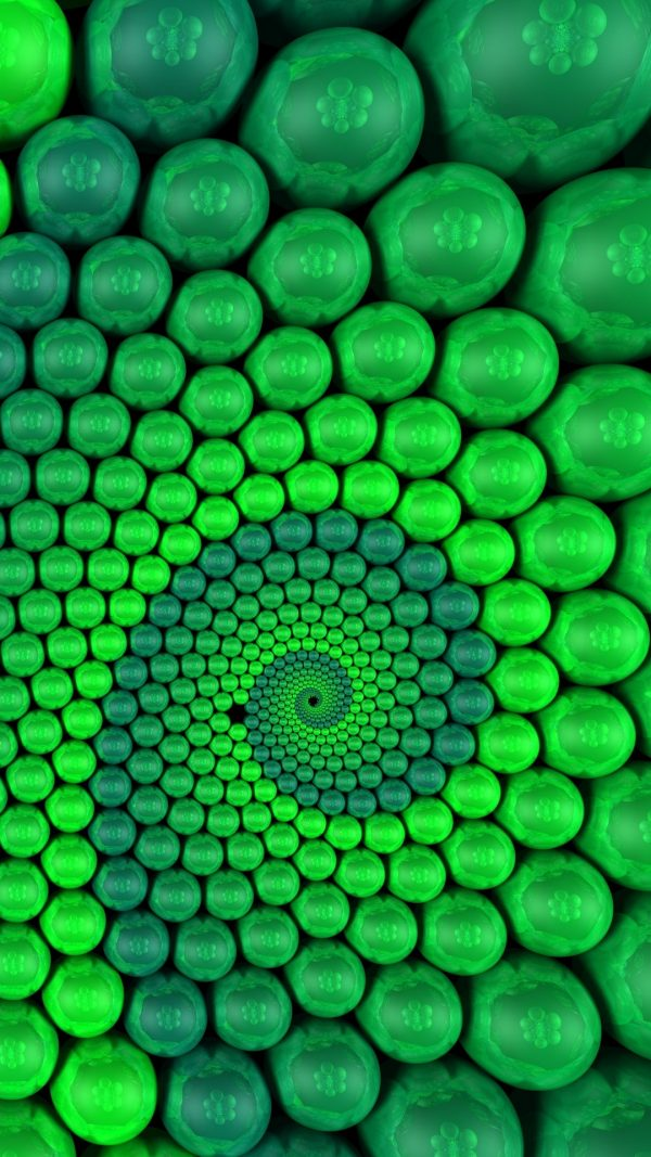 3D Balls Spiral Rendering HD Wallpaper 1080x1920 600x1067 - 3D Balls Spiral Rendering HD Wallpaper - 1080x1920