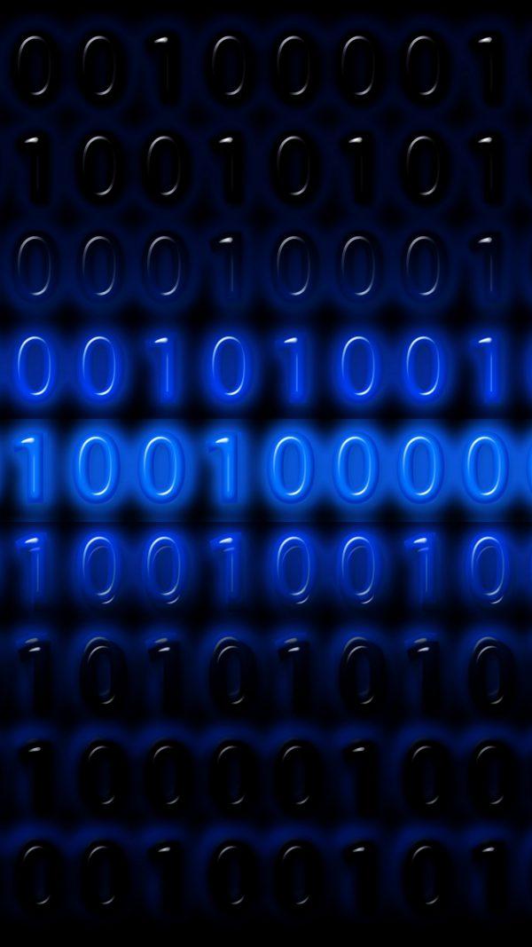 3D Binary Code Numbers Programming HD Wallpaper 1080x1920 600x1067 - 3D Binary Code Numbers Programming HD Wallpaper - 1080x1920