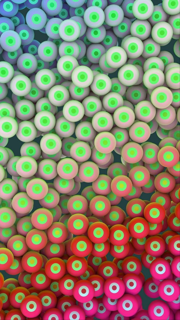 3D Circles Balls Eyes HD Wallpaper 1080x1920 600x1067 - 3D Circles Balls Eyes HD Wallpaper - 1080x1920