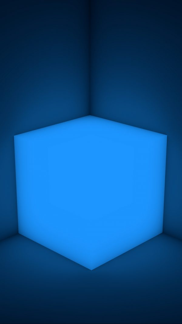 3D Cube Neon Shape HD Wallpaper 1080x1920 600x1067 - 3D Cube Neon Shape HD Wallpaper - 1080x1920