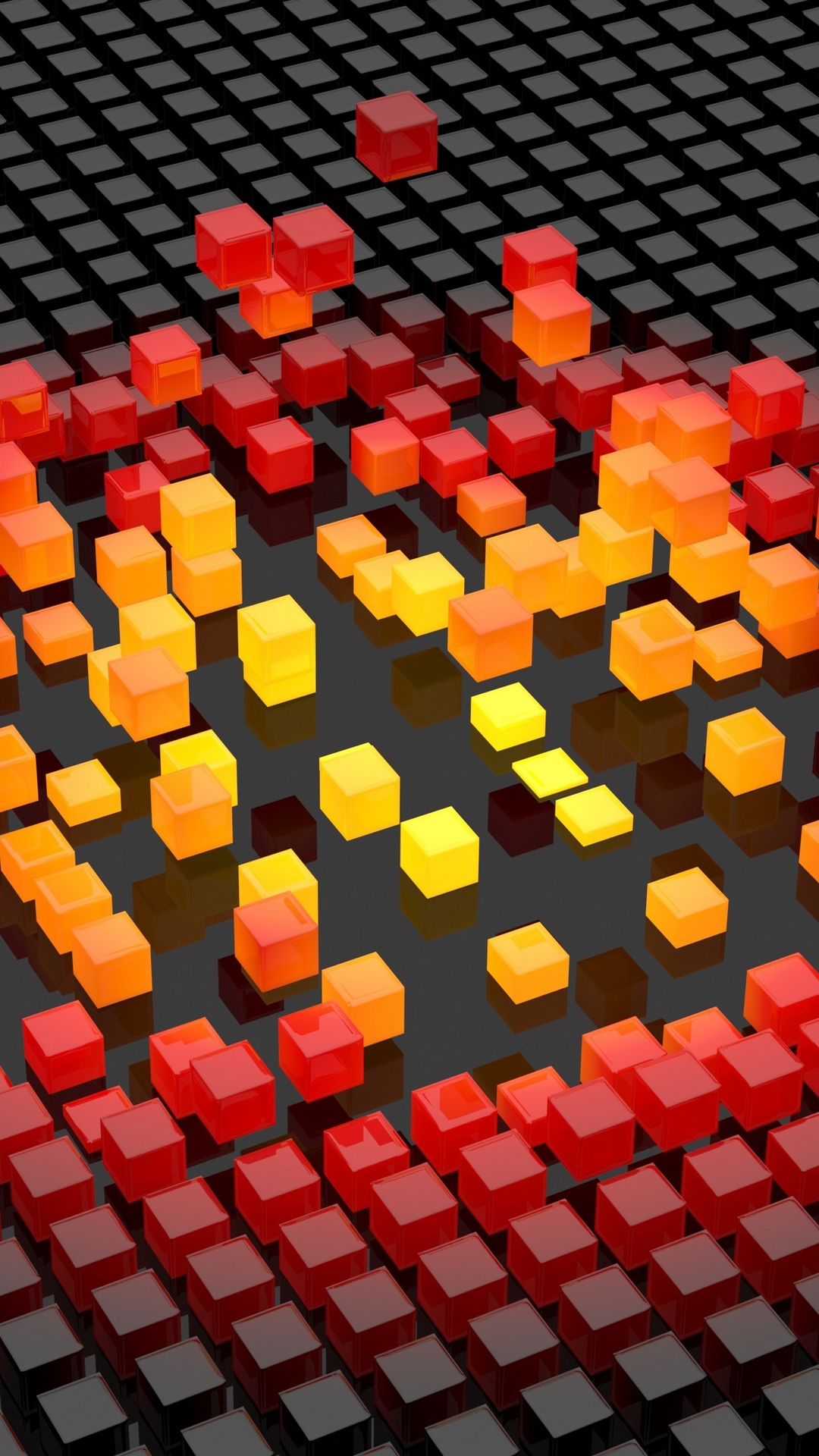 3d Cubes Color Shapes Hd Wallpaper 1080x1920