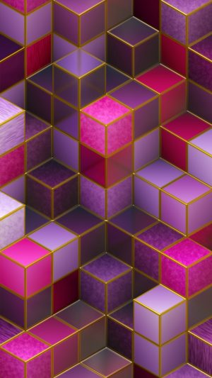 3D Cubes Colorful Pink HD Wallpaper 1080x1920 300x533 - 3D Wallpapers