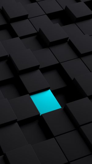 3D Cubes Structure Black Blue HD Wallpaper 1080x1920 300x533 - 3D Cubes Surface Rendering HD Wallpaper - 1080x1920