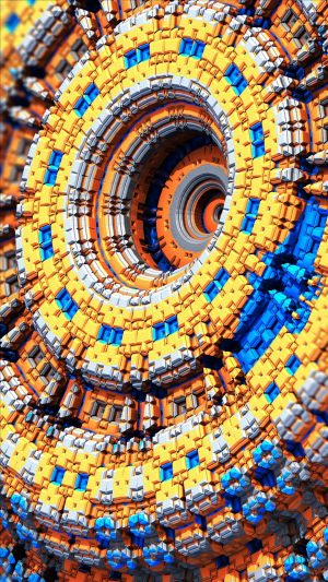3D Fractal Details Circles HD Wallpaper 1080x1920 300x533 - 3D Wallpapers