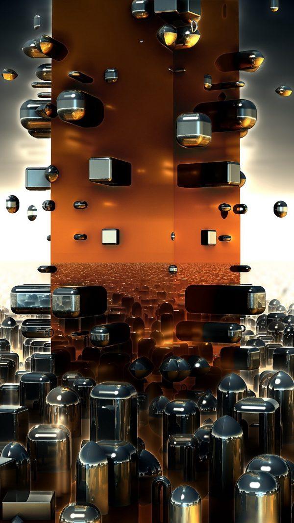 3D Fractals Shapes Future HD Wallpaper 1080x1920 600x1067 - 3D Fractals Shapes Future HD Wallpaper - 1080x1920