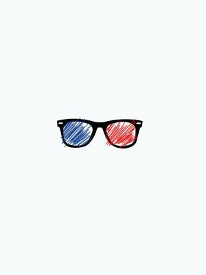 3D Glasses Minimal Wallpaper 300x400 - Minimal Wallpapers