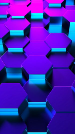 3D Hexagons Shape Rendering HD Wallpaper 1080x1920 300x533 - 3D Wallpapers