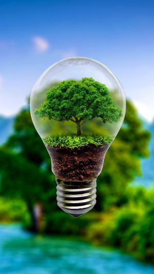 3D Lamp Tree Miniature HD Wallpaper 1080x1920 300x533 - 3D Wallpapers