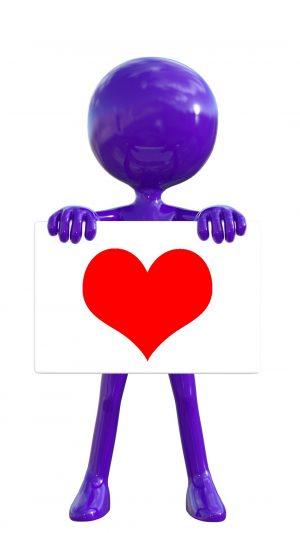 3D Man Heart Board HD Wallpaper 1080x1920 300x533 - 3D Wallpapers