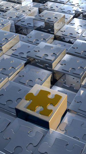 3D Puzzles Cubes Metal HD Wallpaper 1080x1920 300x533 - 3D Wallpapers
