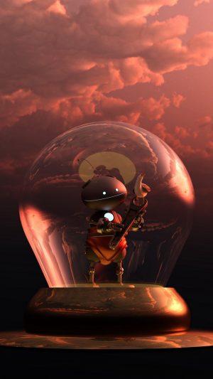 3D Robot Lamp Gull HD Wallpaper 1080x1920 300x533 - 3D Wallpapers
