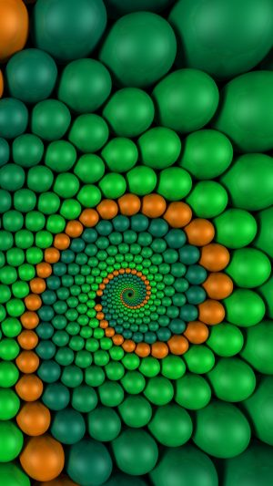 3D Spiral Rendering Balls HD Wallpaper 1080x1920 300x533 - 3D Wallpapers