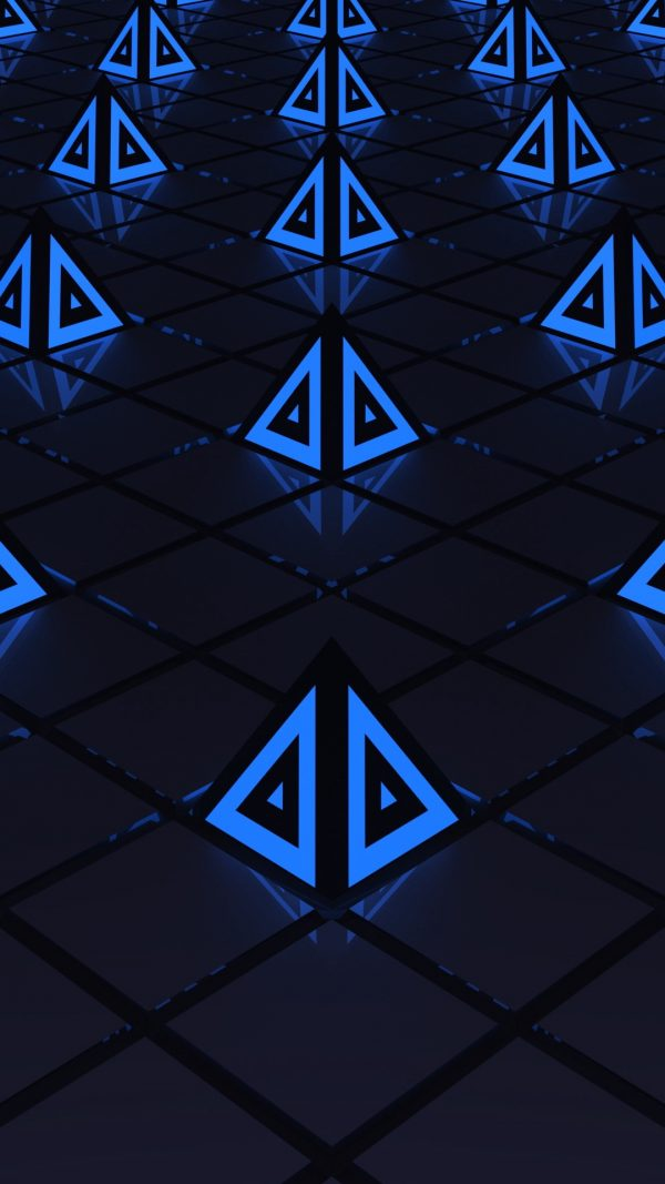 3D Triangles Triangle Backlight HD Wallpaper 1080x1920 600x1067 - 3D Triangles Triangle Backlight HD Wallpaper - 1080x1920