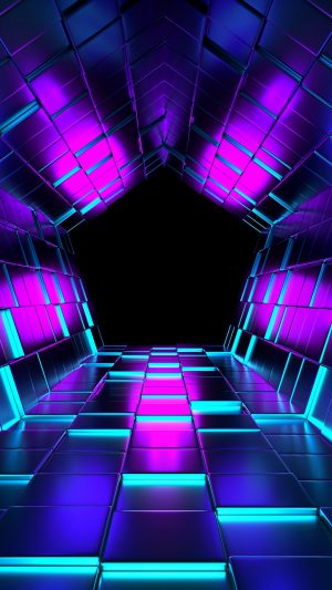 3D Ubes Rendering Tunnel HD Wallpaper 1080x1920 300x533 - 3D Wallpapers