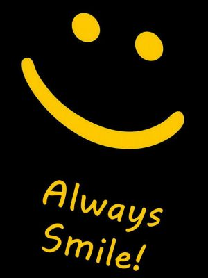 Always Smile Minimal Background HD Wallpaper 300x400 - Minimal Wallpapers