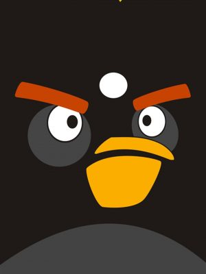 Angry Bird Minimal Background HD Wallpaper 300x400 - Minimal Wallpapers