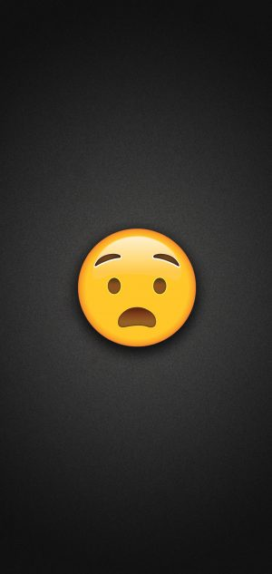 Anguished Face Emoji Phone Wallpaper 300x633 - Emoji Wallpapers