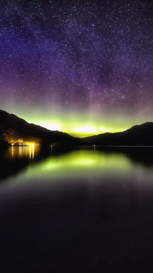 Aurora Starry Sky Night Colors Wallpaper 1080x1920 300x533 - Nature Wallpapers