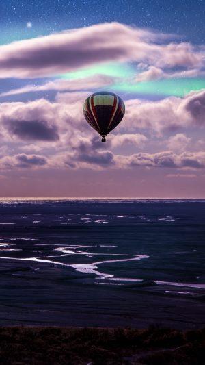 Balloon Ocean Aurora Borealis Wallpaper 1080x1920 300x533 - Nature Wallpapers