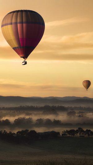 Balloons Field Fog Wallpaper 1080x1920 300x533 - Nature Wallpapers