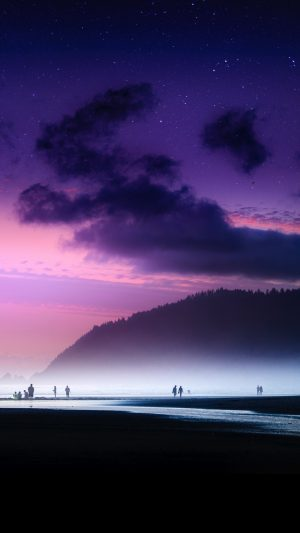 Beach Starry Sky Fog Wallpaper 1080x1920 300x533 - Nature Wallpapers