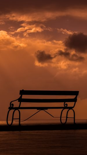 Bench Sunset Sky Clouds Wallpaper 1080x1920 300x533 - Nature Wallpapers