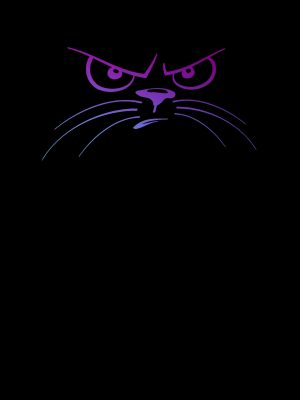 Black Cat Minimal Background HD Wallpaper 300x400 - Minimal Wallpapers