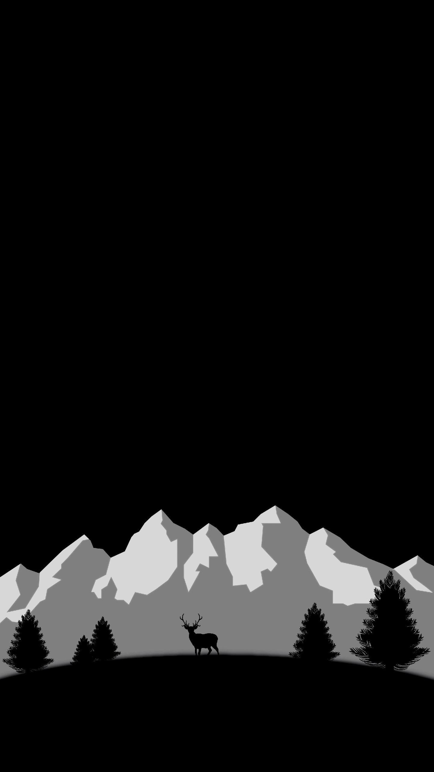 Black Night Minimal Background Hd Wallpaper