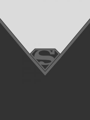 Black White Superman Minimal Wallpaper 300x400 - Minimal Wallpapers
