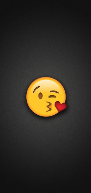 Blow Kiss Emoji Phone Wallpaper 300x633 - Emoji Wallpapers