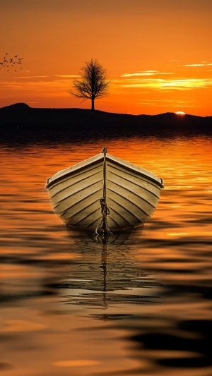 Boat Sunset Skyline Wallpaper 1080x1920 300x533 - Nature Wallpapers