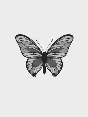 Butterfly Minimal Background HD Wallpaper 025 300x400 - Minimal Wallpapers