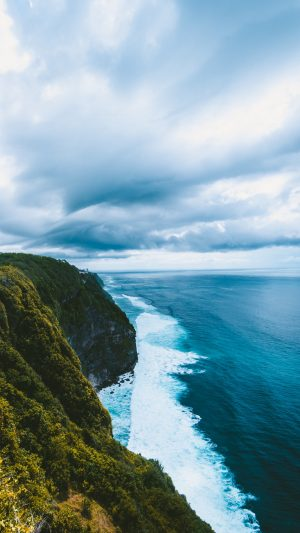 Cliff Sea Surf Sky Wallpaper 1080x1920 300x533 - Nature Wallpapers