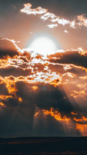 Clouds Sun Sunset Wallpaper 1080x1920 300x533 - Nature Wallpapers