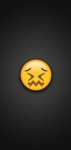 Confounded Face Emoji Phone Wallpaper 300x633 - Emoji Wallpapers