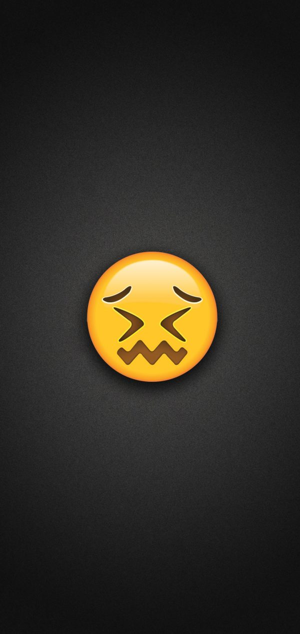 Confounded Face Emoji Phone Wallpaper 600x1267 - Confounded Face Emoji Phone Wallpaper