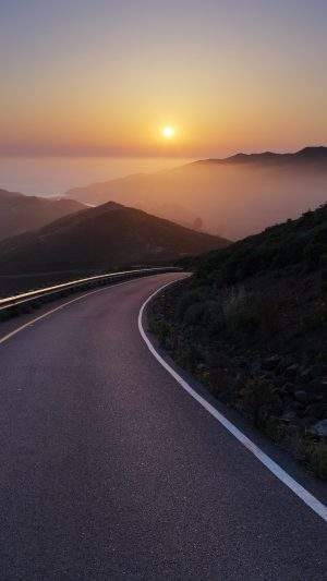 Conzelman Road Sunset Turning Road Sea Wallpaper 1080x1920 300x533 - Nature Wallpapers