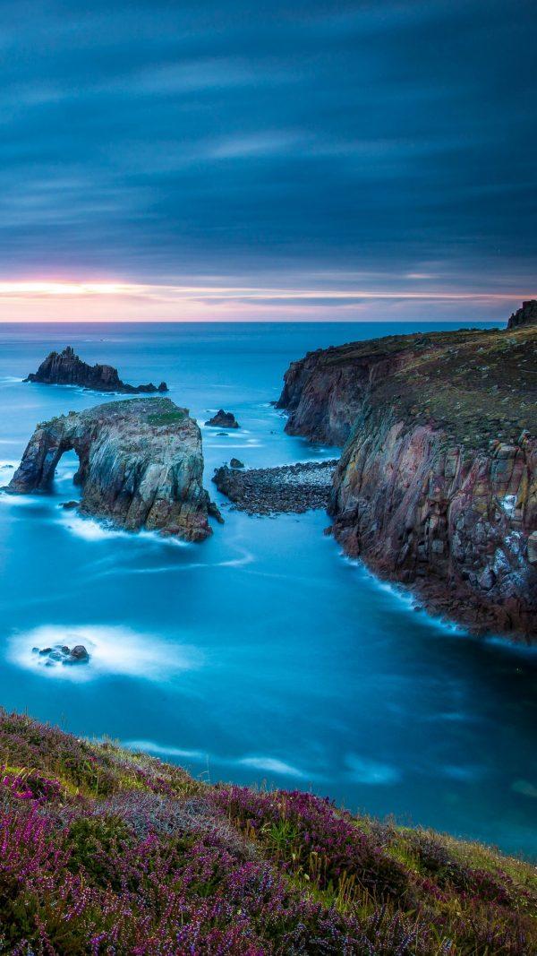 Cornwall England Celtic Sea Cape Lands Wallpaper 1080x1920 600x1067 - Cornwall England Celtic Sea Cape Lands Wallpaper - [1080x1920]