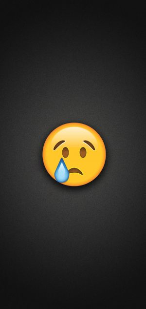 Crying Face Emoji Phone Wallpaper 300x633 - Emoji Wallpapers