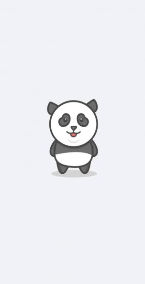 Cute Panda Wallpaper 886x1920  300x585 - White iPhone Wallpapers