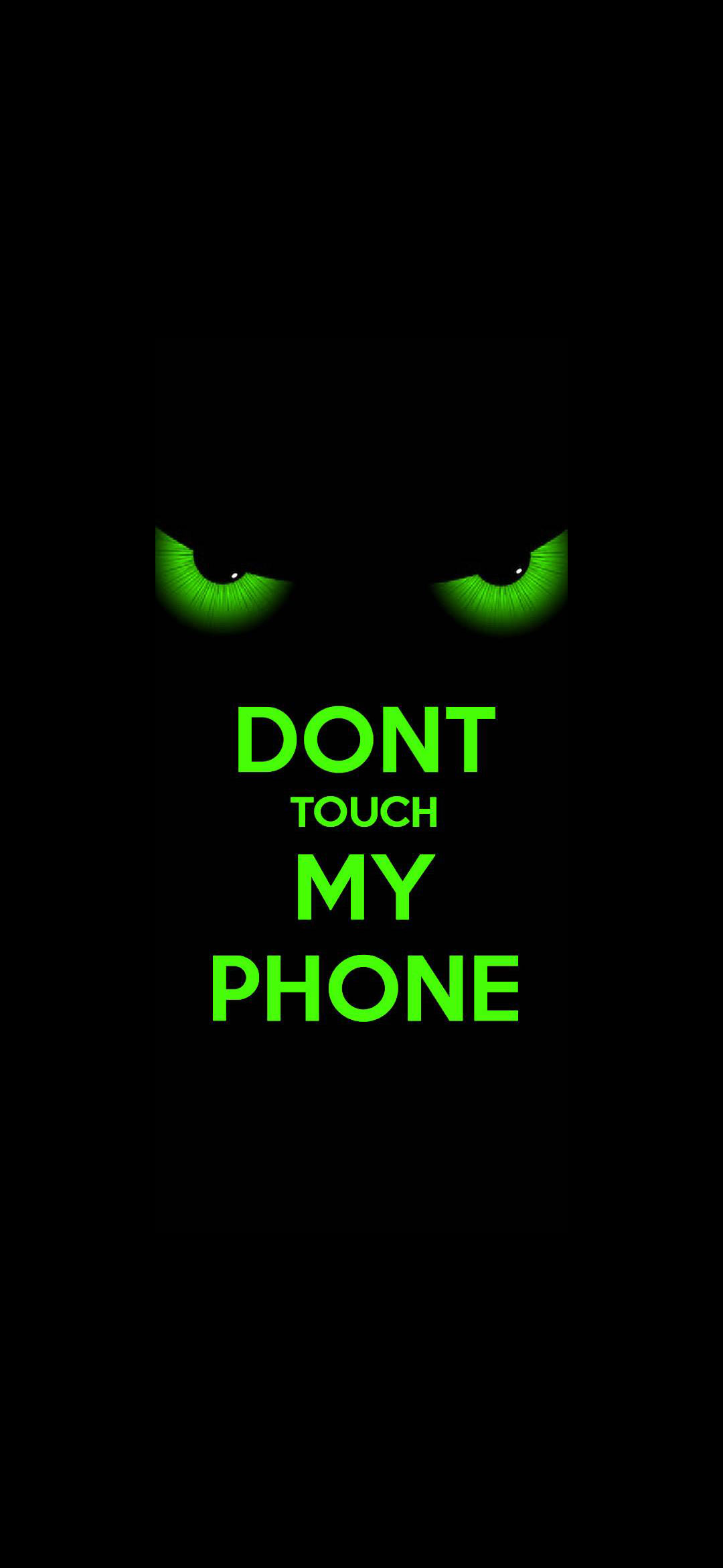Dont Touch Scary Lock Screen Wallpaper 1080x2340