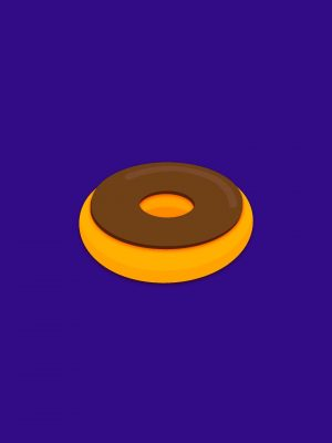 Donut Minimal Background HD Wallpaper 300x400 - Minimal Wallpapers