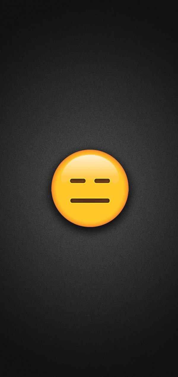 Expressionless Face Emoji Phone Wallpaper 600x1267 - Expressionless Face Emoji Phone Wallpaper