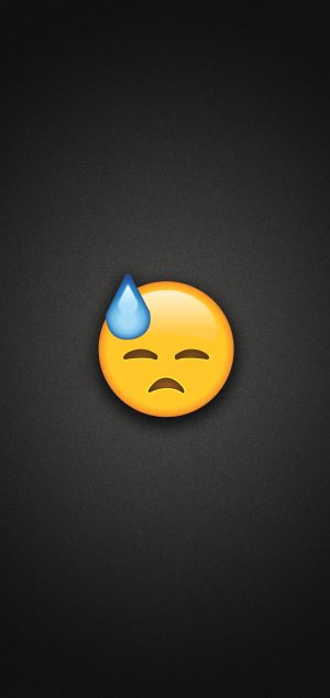 Face with Cold Sweat Emoji Phone Wallpaper 300x633 - Emoji Wallpapers