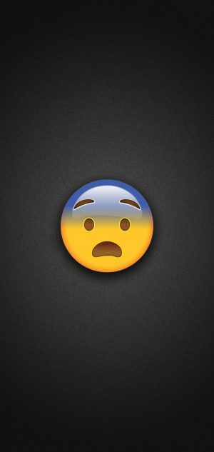 Fearful Face Emoji Phone Wallpaper 300x633 - Emoji Wallpapers