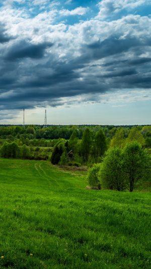 Field Grass Sky Wallpaper 1080x1920 300x533 - Nature Wallpapers